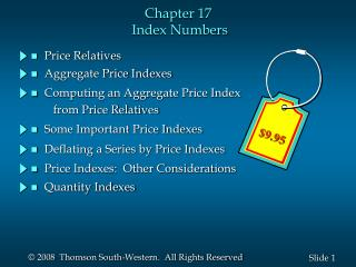 Chapter 17  Index Numbers