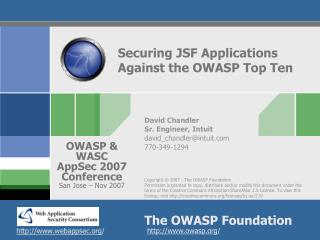 Securing JSF Applications Against the OWASP Top Ten