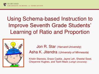 Using Schema-based Instruction to Improve Seventh Grade Students  Learning of Ratio and Proportion