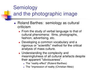 Semiology  and the photographic image