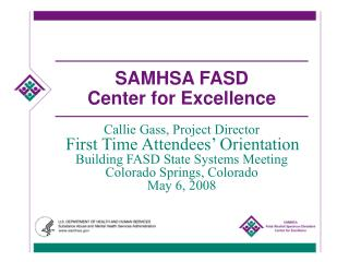 SAMHSA FASD  Center for Excellence