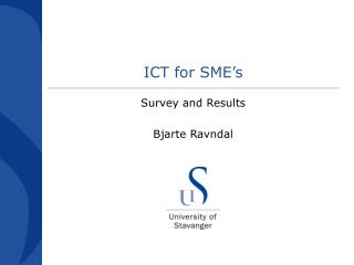 ICT for SME s