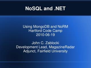 NoSQL and