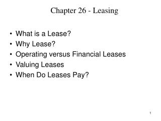 Chapter 26 - Leasing