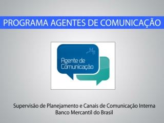 Programa Agentes de Comunicação