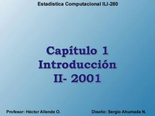 Cap tulo 1 Introducci n II- 2001