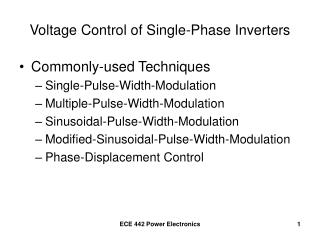 Voltage Control of Single-Phase Inverters