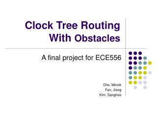 Clock Tree Routing With Obstacles