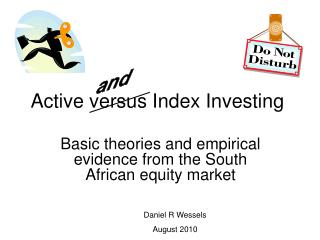 Active versus Index Investing