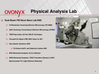 Physical Analysis Lab