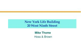 New York Life Building 20 West Ninth Street