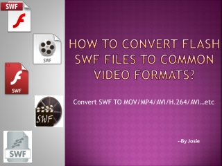 How to Convert and Edit Flash SWF files Step by Step with SW