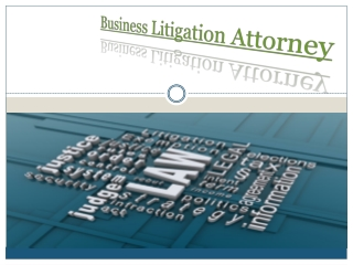 Business litigation attorney