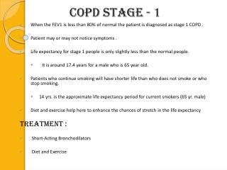 COPD Stage - 1