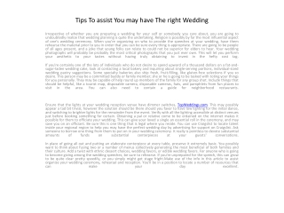 Tips To assist You may have The right