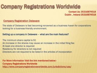 company registration delaware