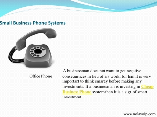 Affordable Small Office Phone System