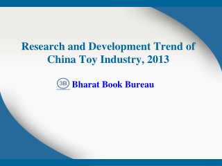 Research and Development Trend of China Toy Industry, 2013