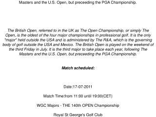 the open championship live golf stream british open pga tour