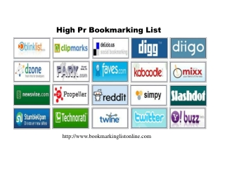 Free Social Bookmarking List