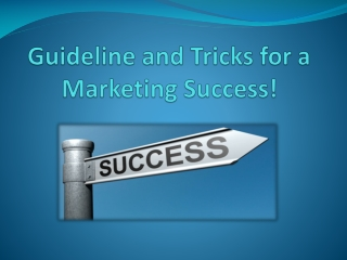Guideline and Tricks for a Marketing Success!