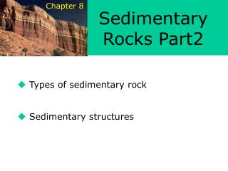 Types of sedimentary rock    Sedimentary structures