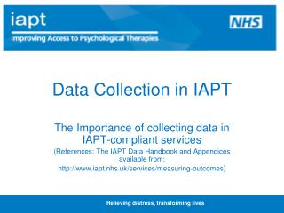Data Collection in IAPT