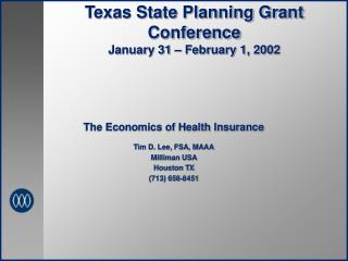Texas State Planning Grant Conference January 31   February 1, 2002