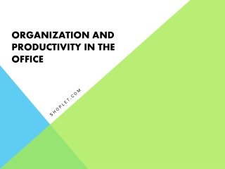 Organization and Productivity In The Office