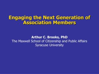 Engaging the Next Generation of Association Members