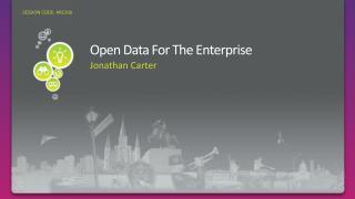 Open Data For The Enterprise