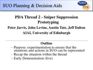 SUO Planning  Decision Aids