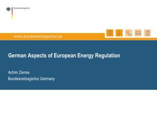 German Aspects of European Energy Regulation