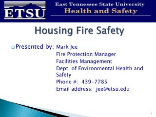 Housing Fire Safety