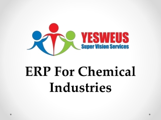 ERP For Chemical Industries