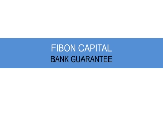 FIBON CAPITAL -BANK GUARANTEE