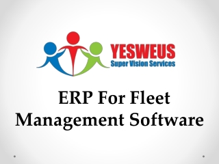 ERP For Fleet Management