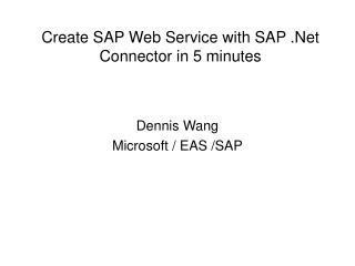 Create SAP Web Service with SAP .Net Connector in 5 minutes