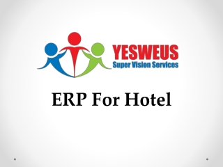 ERP For Hotel Industries