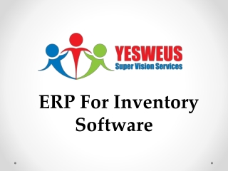 ERP For Inventory Software