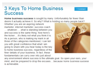 Online mlm success