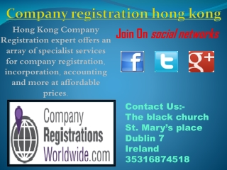 company registration hong kong