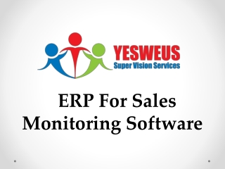 ERP For Sales Monitoring Software
