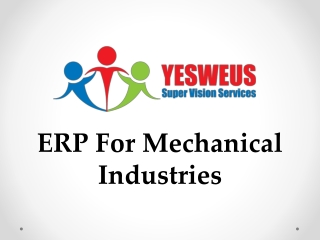 ERP For Mechanical Industry Software
