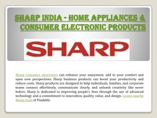 Sharp India stores near you to Shop Home appliances