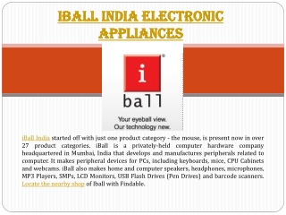 iBall India stores in India near you to shop Mobiles, Headse