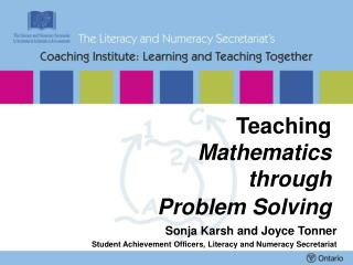 Teaching  Mathematics through  Problem Solving
