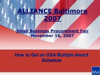 How to Get on GSA Multiple Award Schedule