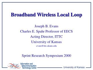 Broadband Wireless Local Loop