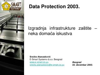Data Protection 2003.